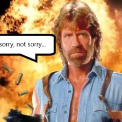 Chuck's not sorry...